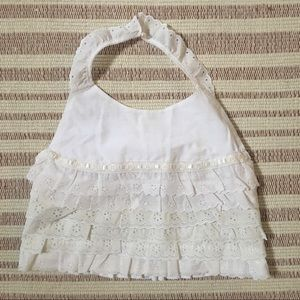 Handmade From Vintage Fabric Babydoll Halter Top
